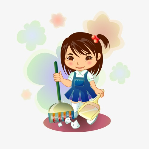 Girl cleaning clipart 6 » Clipart Station.