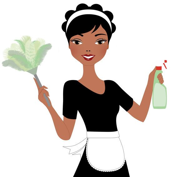 Free download Woman Cleaning Clipart for your creation.