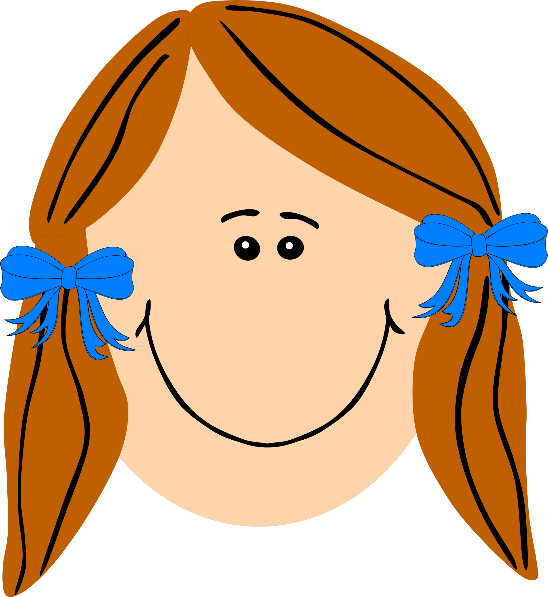 Girl Face Clipart Png.