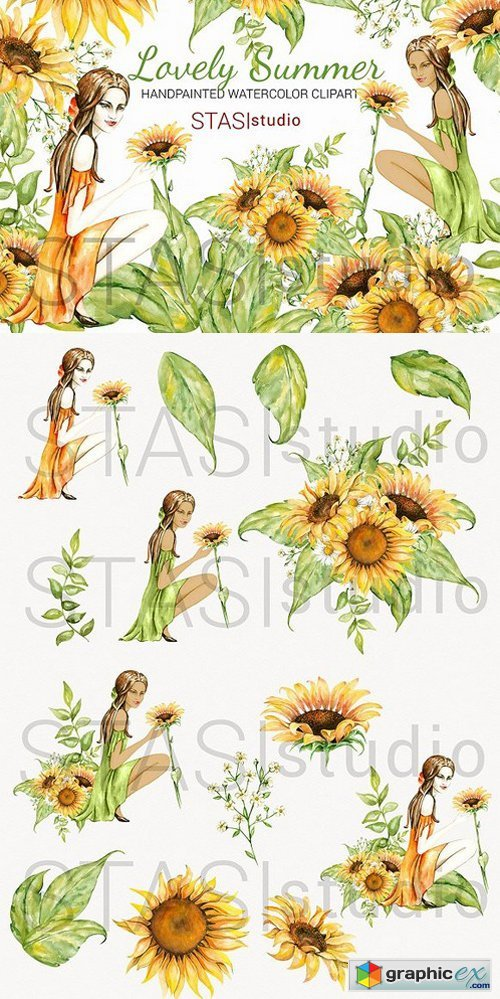 Summer Fashion Girl Clipart » Free Download Vector Stock.