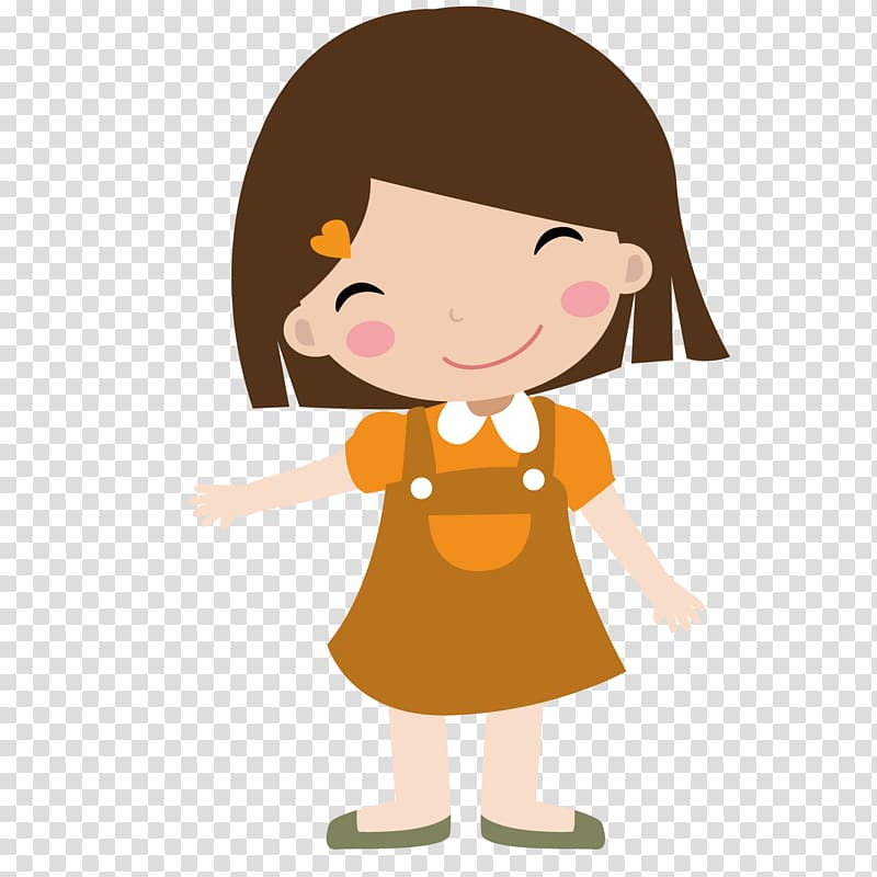 Girl , Cute girl transparent background PNG clipart.