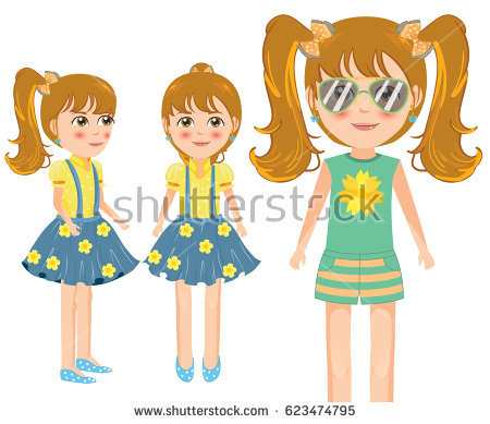 Little Girl Side View Stock Vectors, Images & Vector Art.