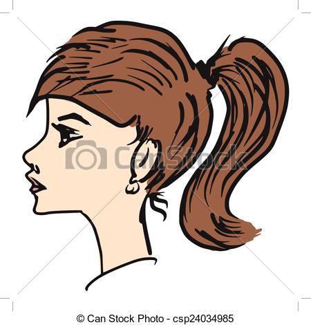Girl side view Clipart Vector Graphics. 1,119 Girl side view EPS.