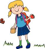 Gallery For > Going to School Clipart Happy Girl.