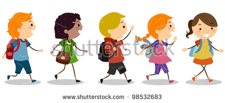 Going To School Banque d'Image Libre de Droit, Photos, Vecteurs et.