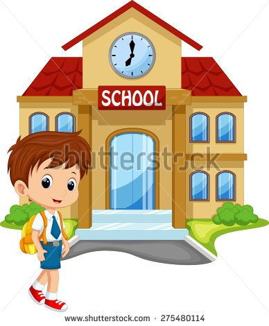 girl coming home from school clipart - Clipground