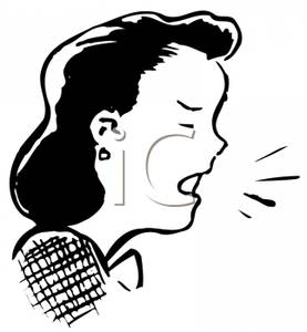 A Retro Cartoon of a Woman Coughing.