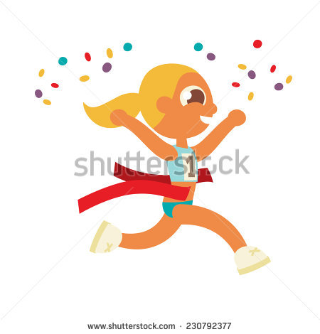 Runner Crossing Finish Line Stock Images, Royalty.