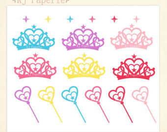 girl crowns clipart #11