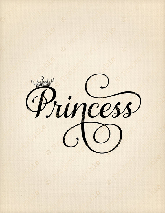 Instant Download Printable PRINCESS & CROWN Baby Girl Fabric.
