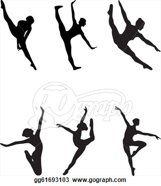 Dancer Silhouette Arabesque.