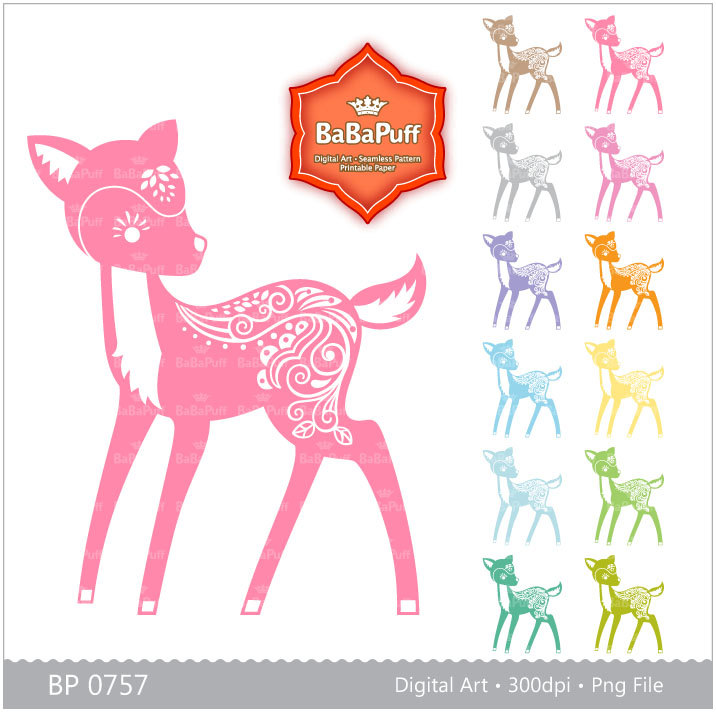 Baby Deer Silhouette.