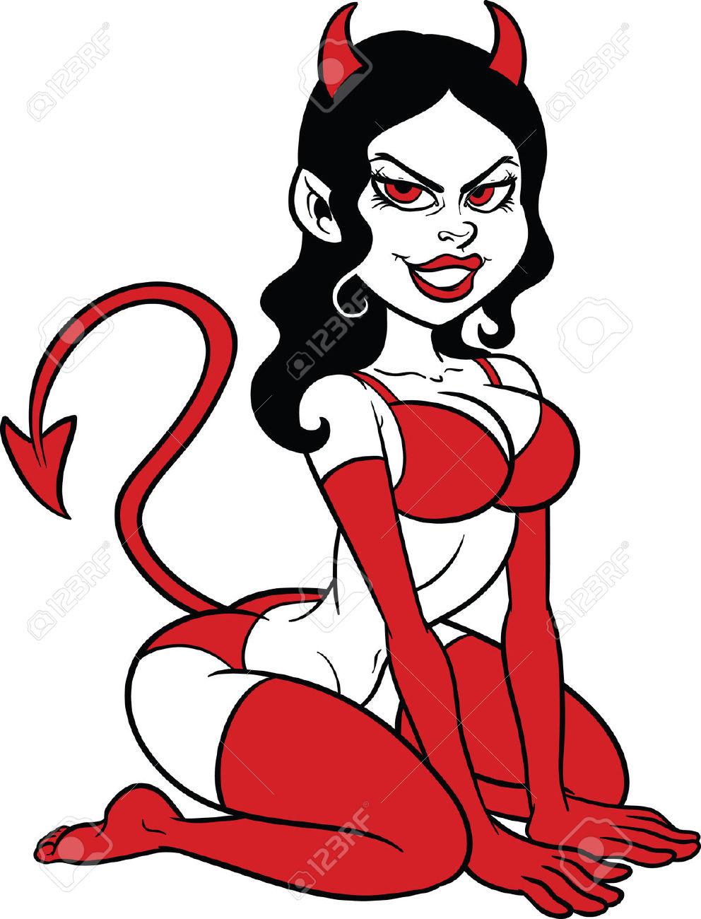 Girl Devil Clipart.