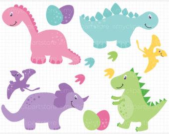 Girl Dinosaur Clipart.