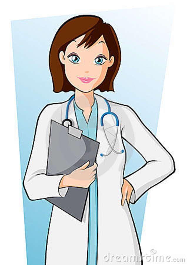 Clipart Girl Doctor.