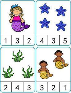 Counting worksheet for preschool.