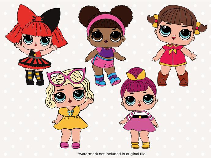 Doll SVG files, Girl doll svg cut files,.