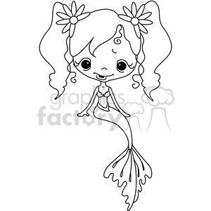 Girl Doll Mermaid 2 clipart. Royalty.