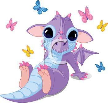 Girl dragon clipart #9