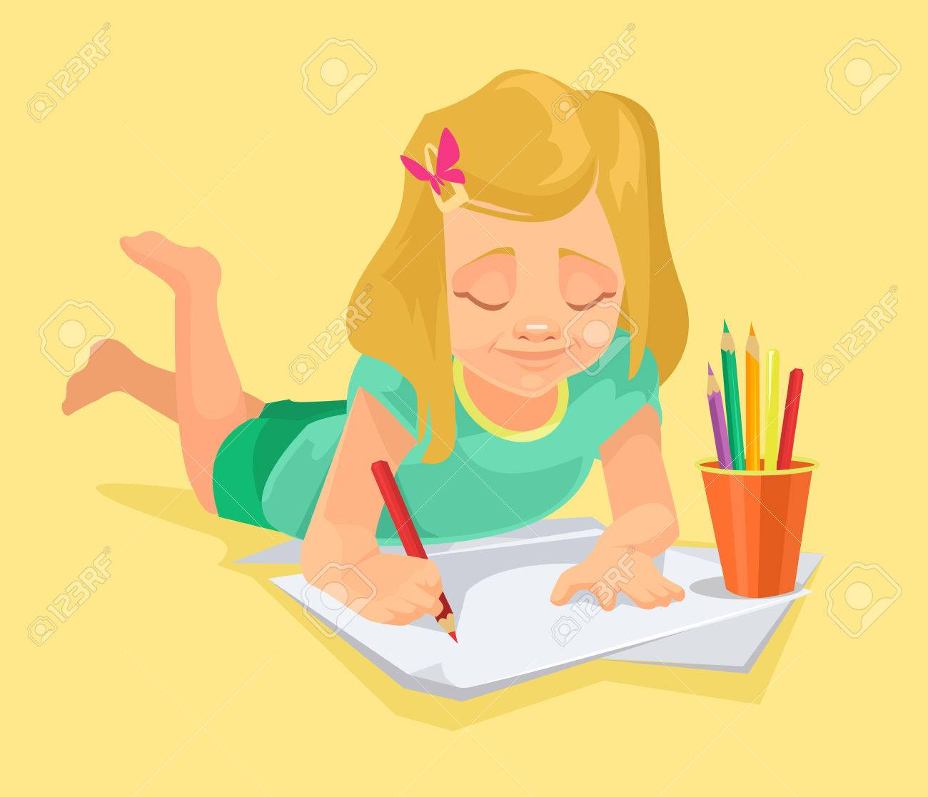 Girl drawing clipart 6 » Clipart Station.