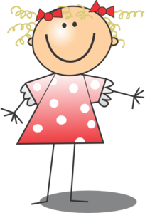 Girl In Dress Clipart.