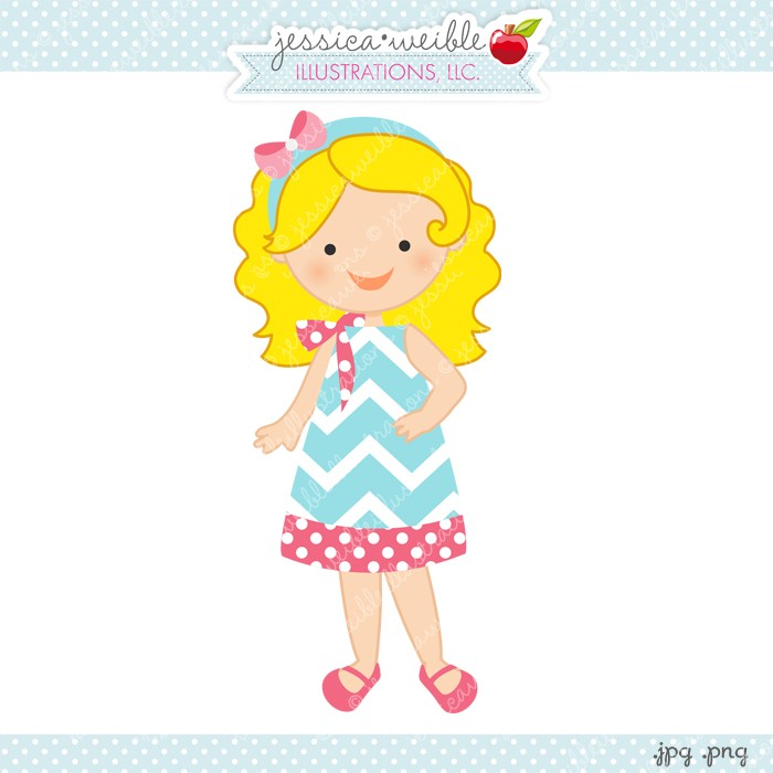 Get Dressed Girl Clipart.
