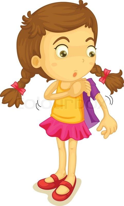 girl dressed clipart #16