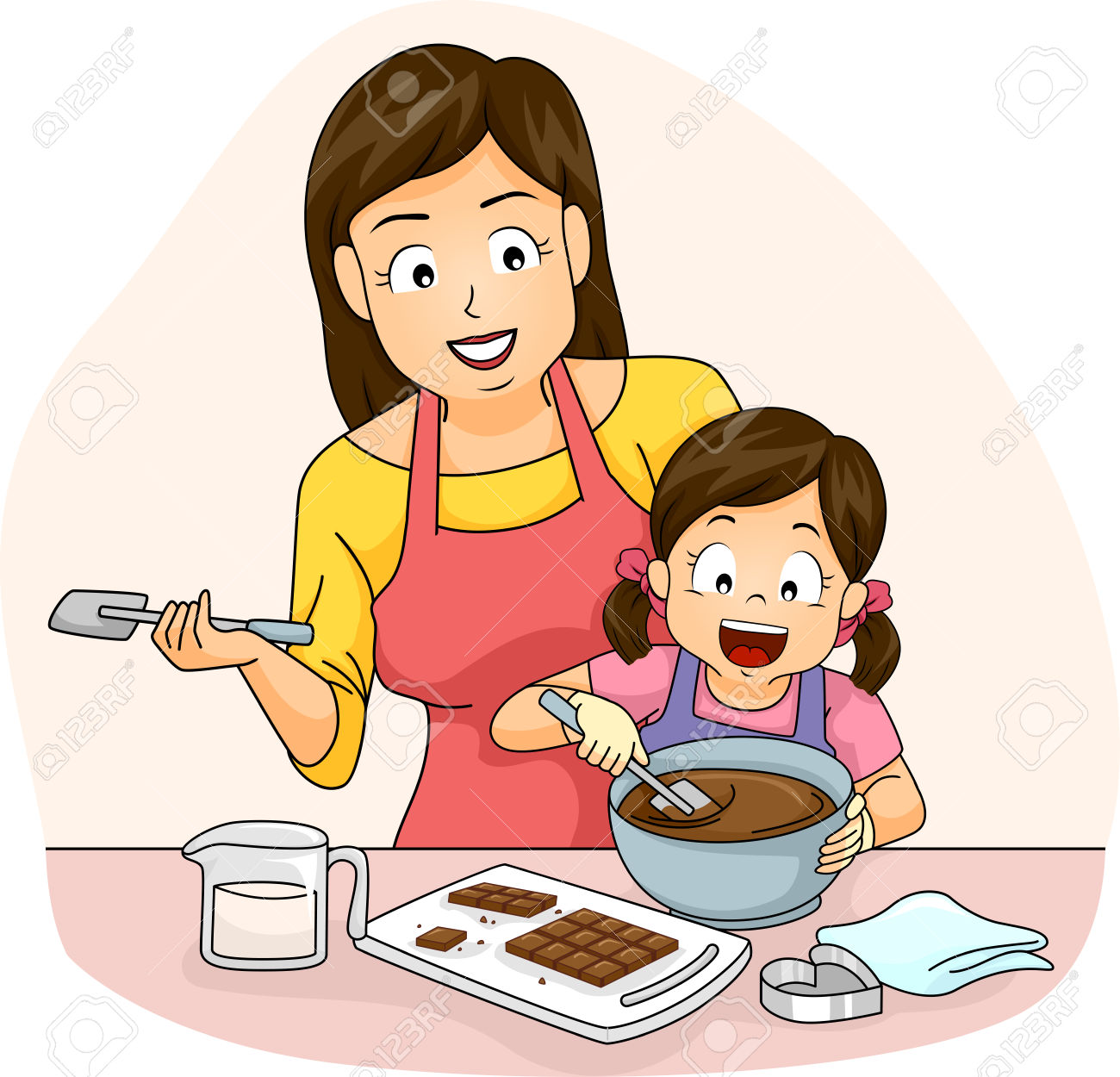 Kid Girl Mom Chocolate » Clipart Station.