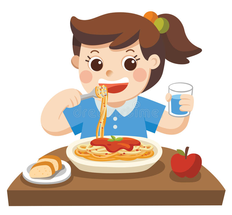 Girl Eat Stock Illustrations.