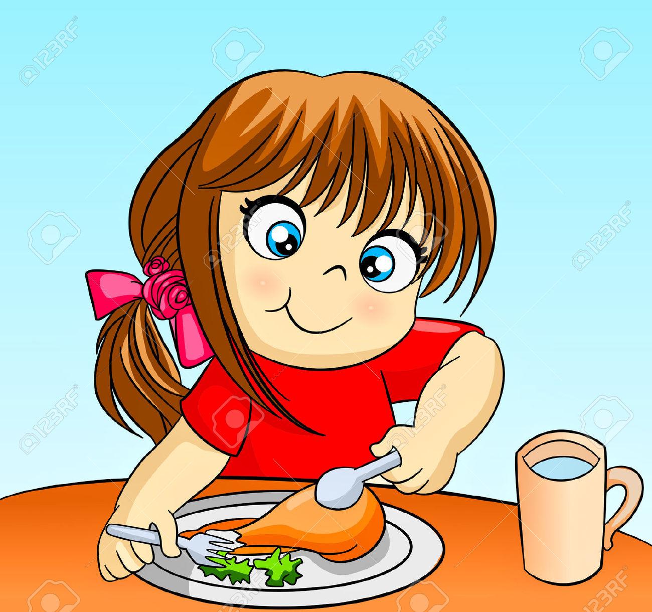 Eat Dinner Clipart.