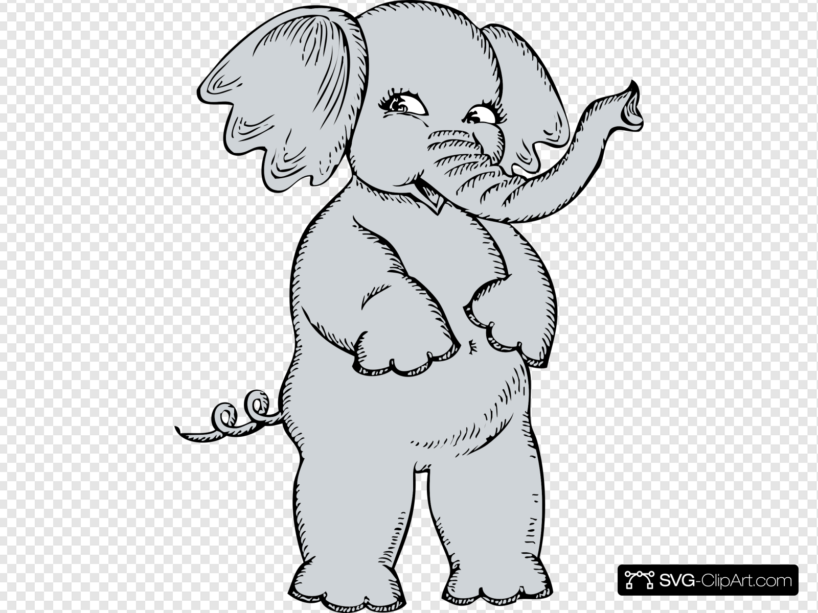 Girl Elephant Clip art, Icon and SVG.