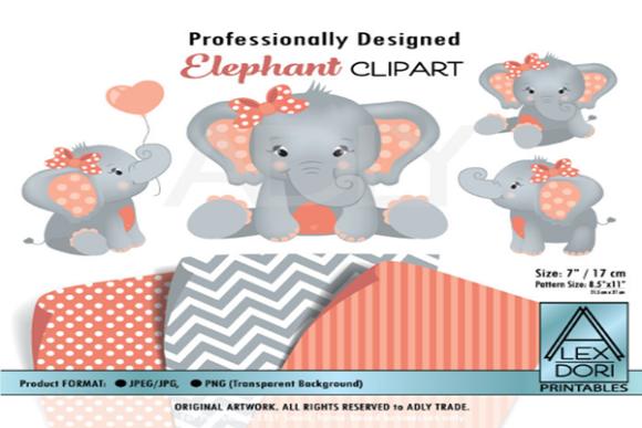 Girl Elephant Clipart.