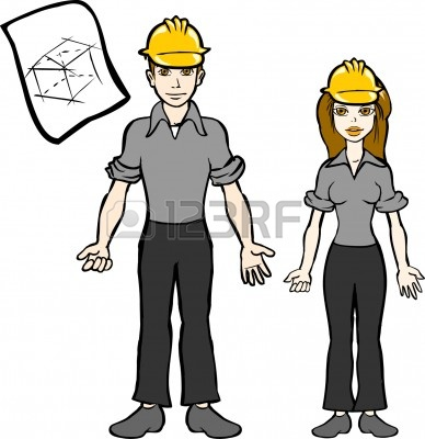 Female Engineer Clipart.