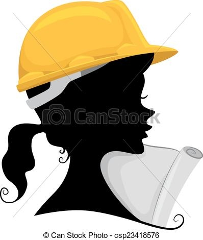 Girl Civil Engineer Clipart.