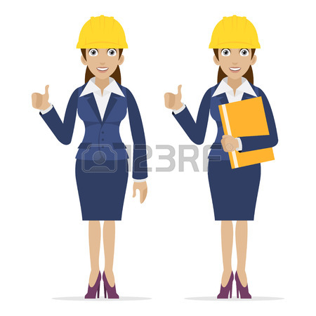 Female Engineer Clipart.