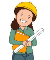 Girl Engineer Clipart.
