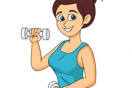 Women Fitness Clip Art.