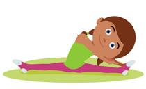 girl exercising clipart #9