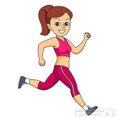 girl exercising clipart #16