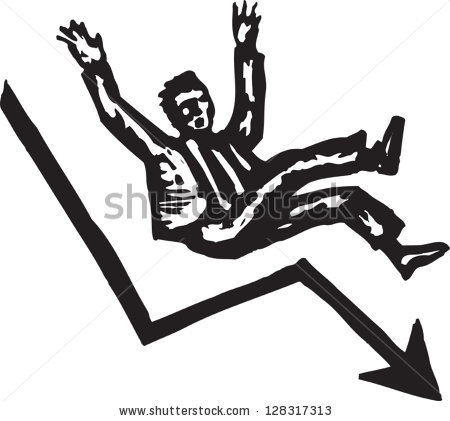 Man Falling Down Stock Images, Royalty.