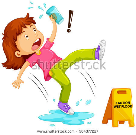 Slip And Fall Stock Images, Royalty.