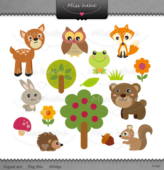 Clipart Forest Animals.