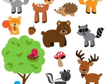 Forest Animals Clip Art.