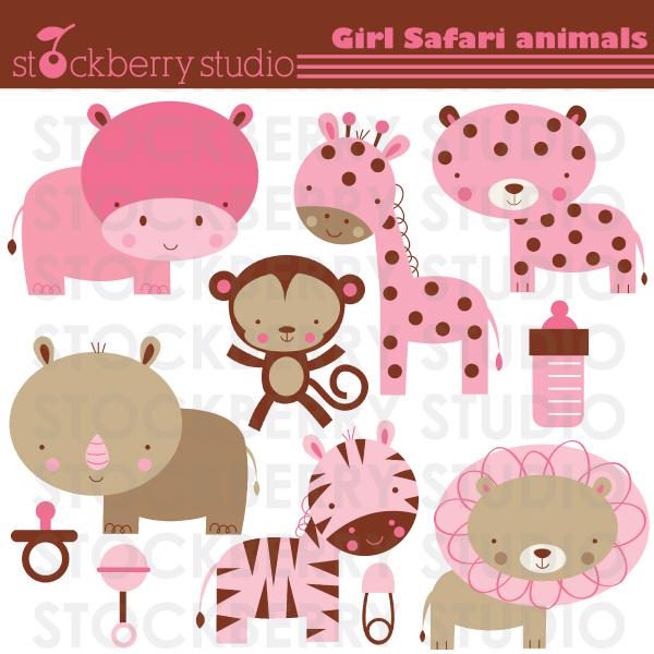 Free Baby Safari Clip Art.