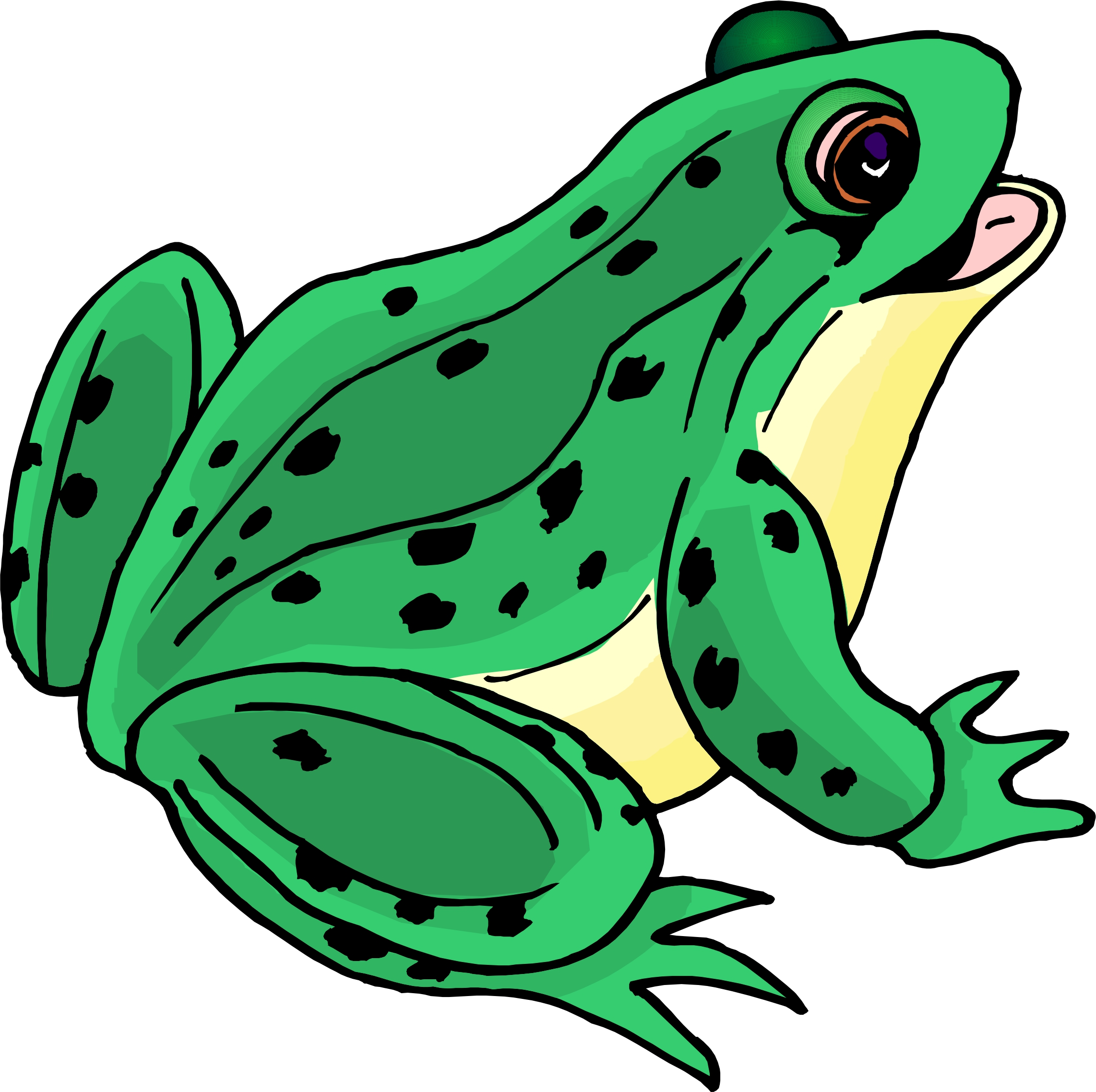 Girl Frogs Clipart.