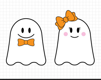 Boy And Girl Ghost Clipart.
