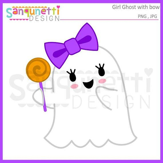 Girl Ghost clipart, Ghost clipart, halloween clipart, fall.