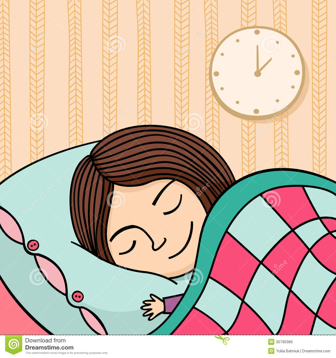 Go To Bed Clipart Girl.