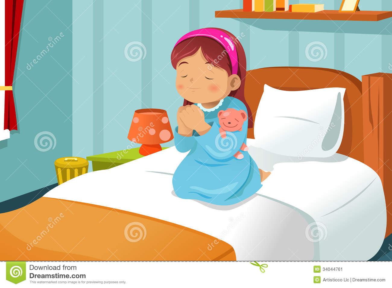 Go to bed clipart girl 6 » Clipart Station.