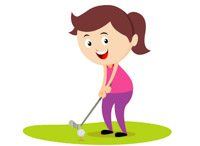 4287 Golf free clipart.